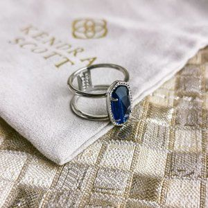 Kendra Scott Elyse Ring   Silver   Navy Dusted